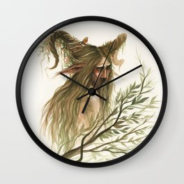 Leshy - woodland spirit Wall Clock