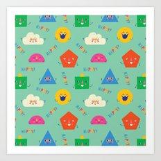 Happy! Pattern Art Print