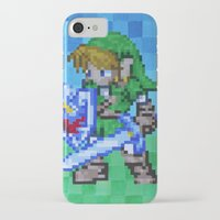 8bit iPhone & iPod Cases featuring 8bit Link by Cariann Dominguez