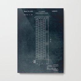 1967 - Modular electrical keyboard Metal Print