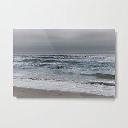 gray ocean day Metal Print