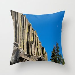 Devil's post pile, CA. Throw Pillow