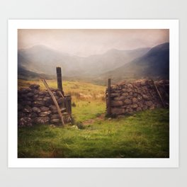 Ben Nevis Mountian range Art Print