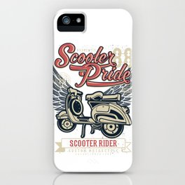 Scooter Pride Scooter Rider iPhone Case
