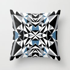 Abstract Kite Black and Blue Throw Pillow