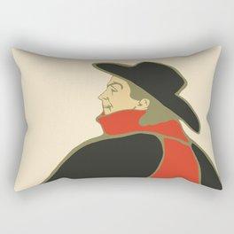 Bruant in his cabaret retro vintage Rectangular Pillow
