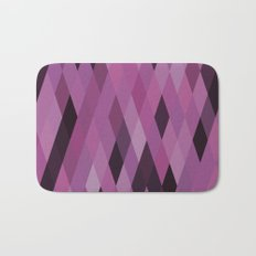 Muted Berry Color Harlequin Pattern Bath Mat