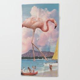 Flamingo Playground Beach Towel