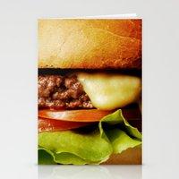 hamburger Stationery Cards featuring Hamburger by Mauricio Togawa