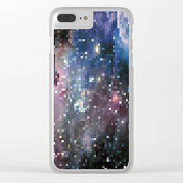 galaxy pixel Clear iPhone Case