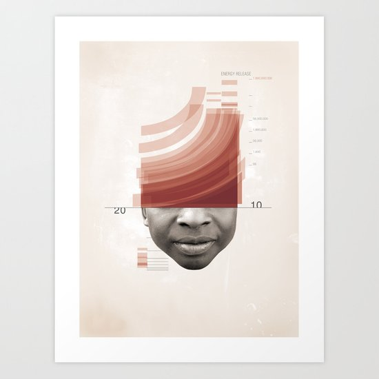 Energy Release Art Print