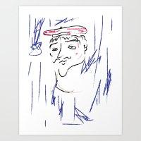 Artiste Baguette Art Print