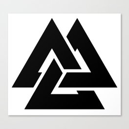 Valknut Martial Heathen symbols Canvas Print