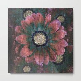hippie flowers Metal Print