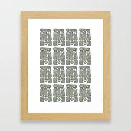 Mr Face Framed Art Print