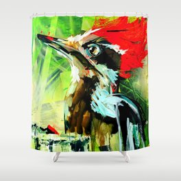 Morning Woody Shower Curtain