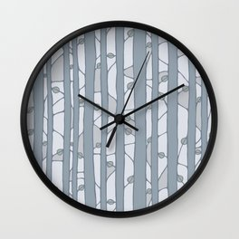 Into The Woods grey Wall Clock