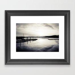 Pwllheli Marina - Mirror Reflection 02 Framed Art Print