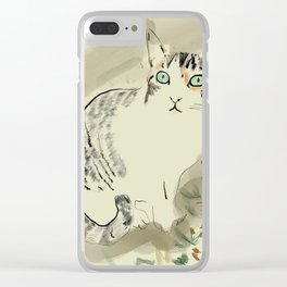 A cute kitten named Kiwi Clear iPhone Case