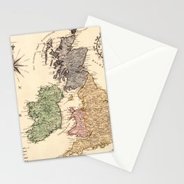 Map Of Great Britain 1795 Stationery Cards