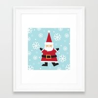 santa Framed Art Prints featuring Santa by Claire Lordon