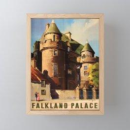 retro Falkland Palace old psoter Framed Mini Art Print