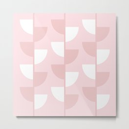Pastel Warm Pink Slices in The Summer Shade Metal Print