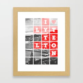 I Love Lyttelton Grid Framed Art Print
