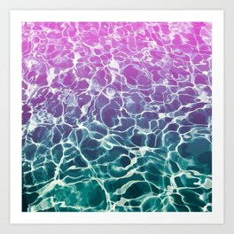 Pink Blue Sea Art Print