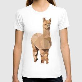 Alpaca animal Geometric art T-shirt