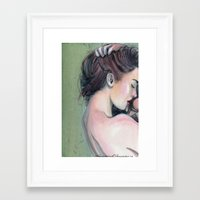 emerald Framed Art Prints featuring Emerald  by Madelyne Joan Templeton