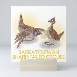 Sharp-tailed Grouse (Canavians Series) Mini Art Print