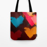 hearts Tote Bags featuring Hearts by Tanya Thomas