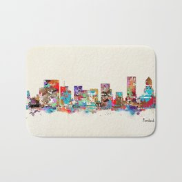 Portland Oregon skyline Bath Mat