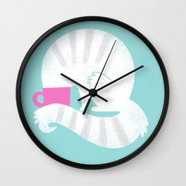 Curious Cat Wall Clock
