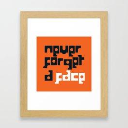 grommet typeface Framed Art Print