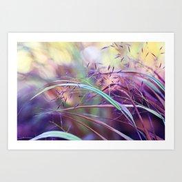 pretty grasses Art Print
