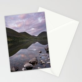 Dawn on Brothers Water, view of Kirkstone Pass. Hartsop, Lake District, Cumbria, UK Stationery Cards