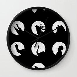 Wolf's Night Off Wall Clock