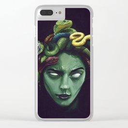 Dark Medusa Clear iPhone Case