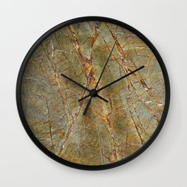 Forest Green Marble Wall Clock