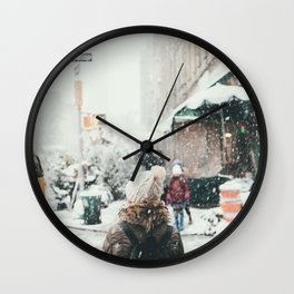 Her Winter (Color) Wall Clock