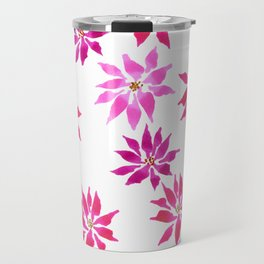 Bright Winter Flowers Travel Mug
