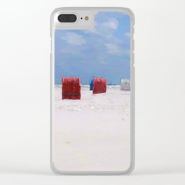 The storm has gone Clear iPhone Case