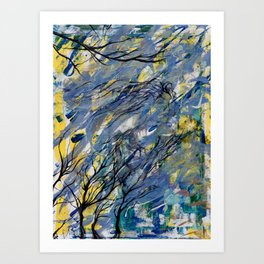 Witched Trees Art Print