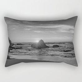 Beachin Life - b&w- Rectangular Pillow