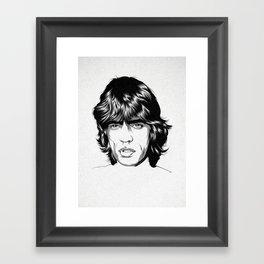 M. J. 02 Framed Art Print