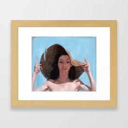 Sunhat Framed Art Print