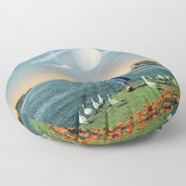 Watching Planets Floor Pillow