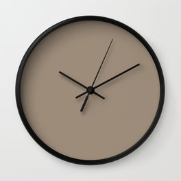 Silver Mink Wall Clock
